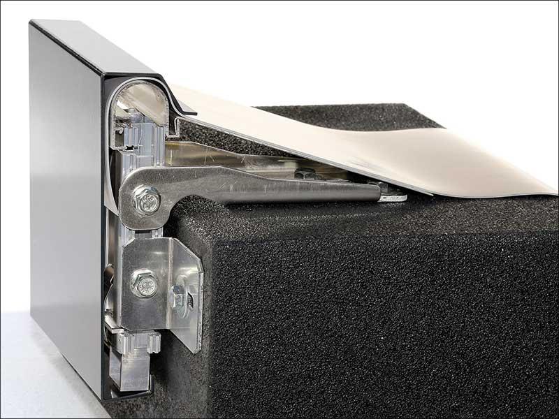 Querschnitt eines Schedetal-Dachrand-Abschlussprofils