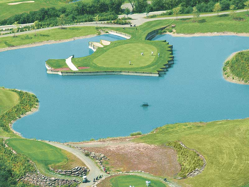 Golfclub Hardenberg e. V., Gut Levershausen, ExtruPol Basisabdichtung, 1.400 qm