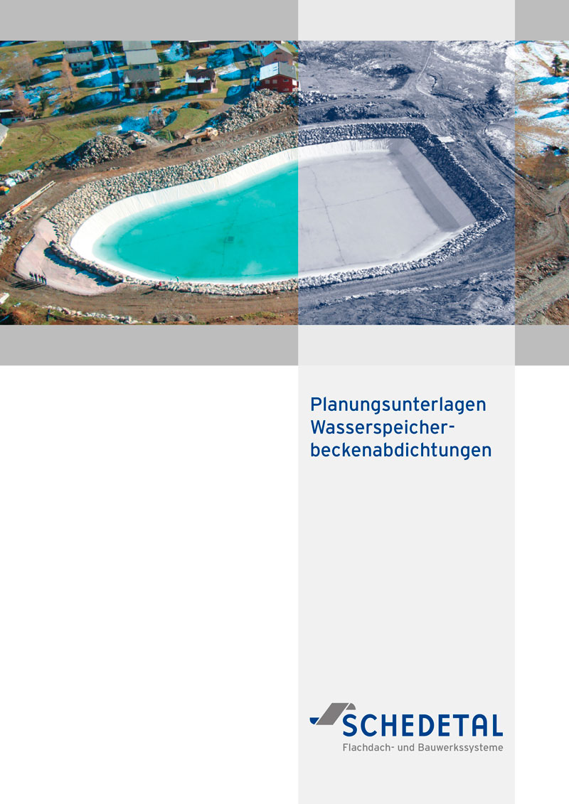 Schedetal Planungsunterlagen Wasserpeicherbeckenabdichtungen
